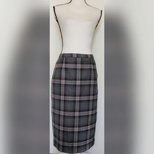 Pendleton VINTAGE Gray Black Wool Pencil Skirt
